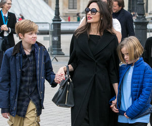 Angelina Jolie Steps Out in Paris with All Six Children