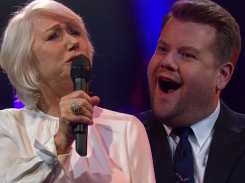 Helen Mirren Raps About 'A Woman's Worth' While Battling James Corden