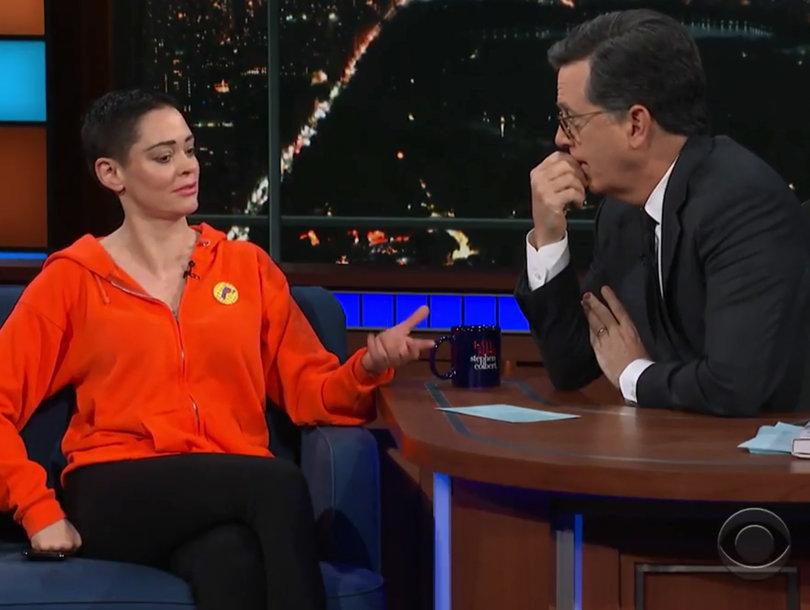 Rose McGowan Fires Back at Press for Calling Stephen Colbert Interview 'Bizarre'