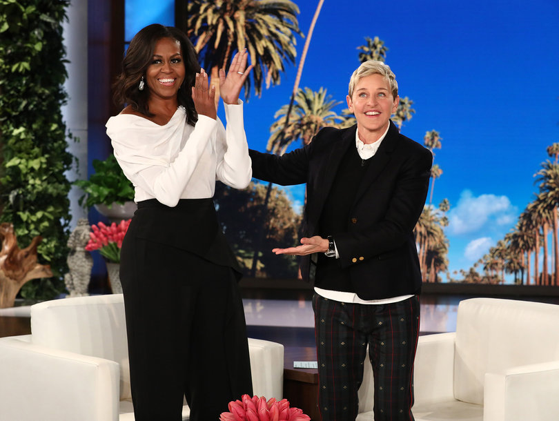 Michelle Obama Gives 'Frightened' Ellen DeGeneres a Message of Hope Despite 'Scary' Change