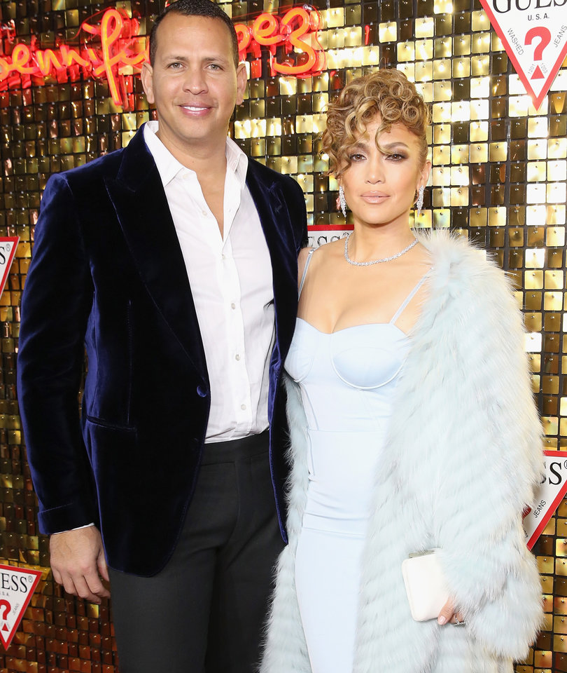 Jennifer Lopez and Alex Rodriguez Look Like Royalty at Her GUESS Launch