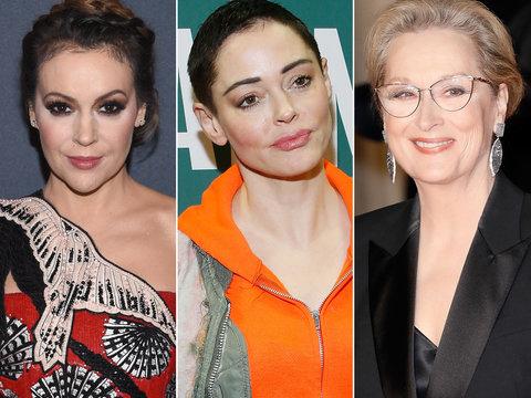 Rose McGowan Bashes Alyssa Milano, Praises Meryl Streep