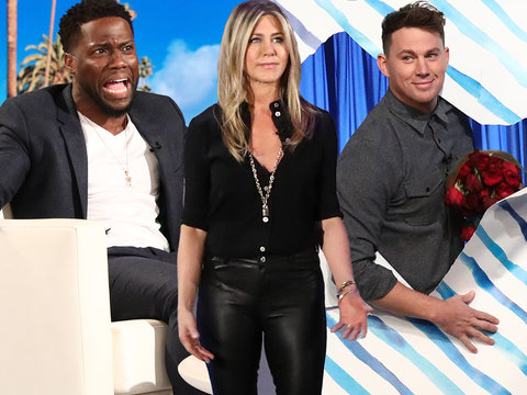 How Jennifer Aniston, Kevin Hart, Channing Tatum Surprised Ellen Today