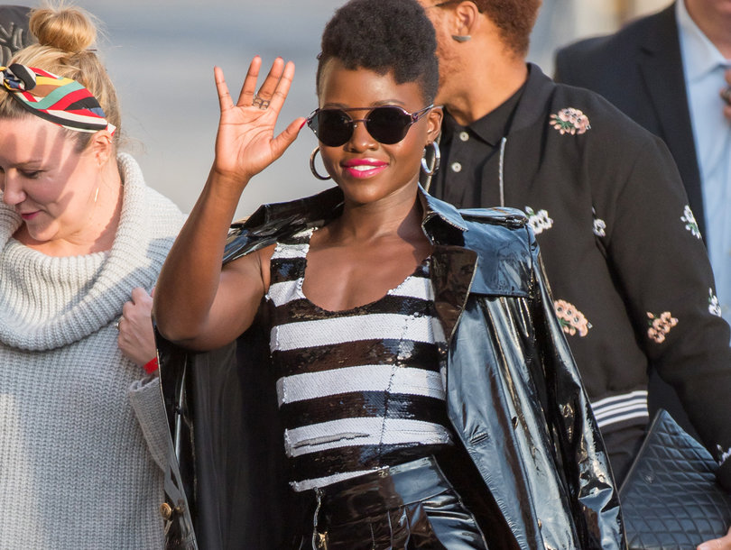 Lupita Nyong'o is Straight Off a Runway at 'Kimmel'