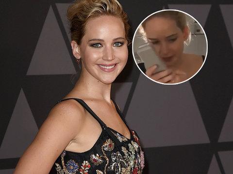 Jennifer Lawrence Has In-Flight 'Bridesmaids' Moment