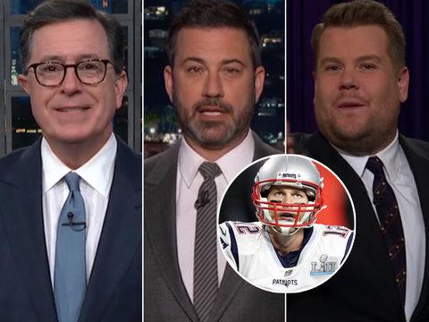 Late-Night Hosts Marvel at Philadelphia Riot After Super Bowl