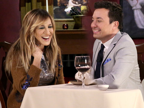 Sarah Jessica Parker Enjoys Romantic, Ridiculous Mad Libs Date with Jimmy Fallon