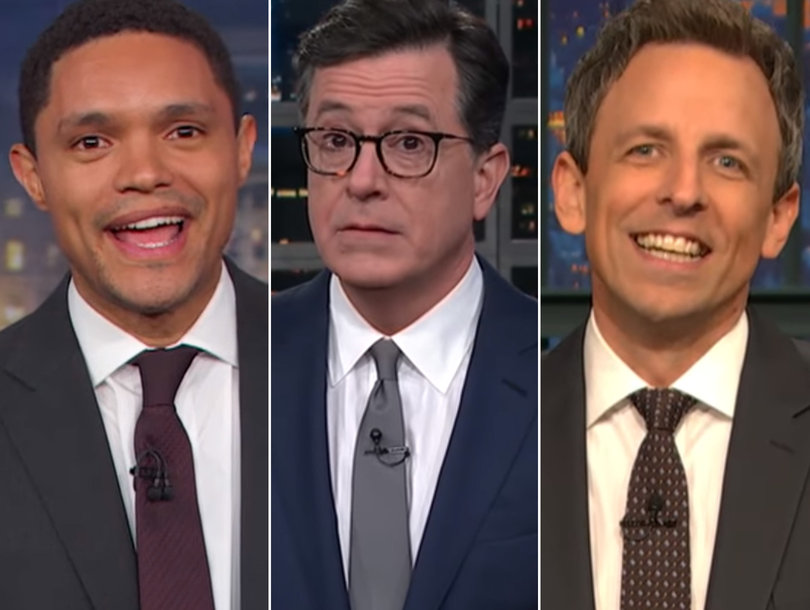 Late-Night Comedians Dump on 'Dictator' Trump for Military Parade Idea