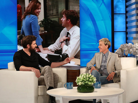 John Krasinski Tells Ellen He 'Didn't Get a Call' for 'Office' Reboot