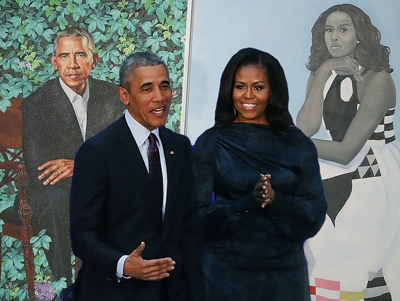 Barack and Michelle Obama's Official Portraits Light Up ...