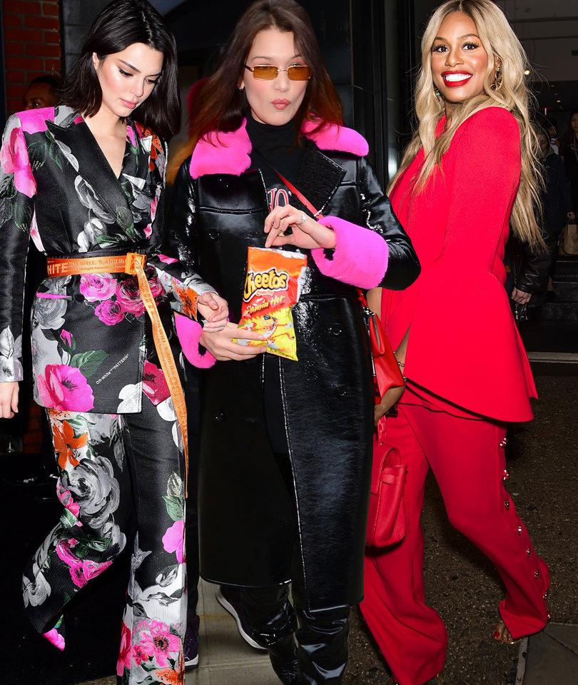 Celebrity Street Style at New York Fashion Week
