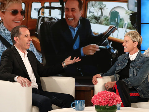 'Not Funny': Ellen Pranks Jerry Seinfeld on 'Comedians in Cars Getting Coffee'