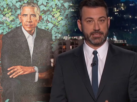 Jimmy Kimmel Imagines Trump's Sexy Presidential Portrait After Obama Unveils His
