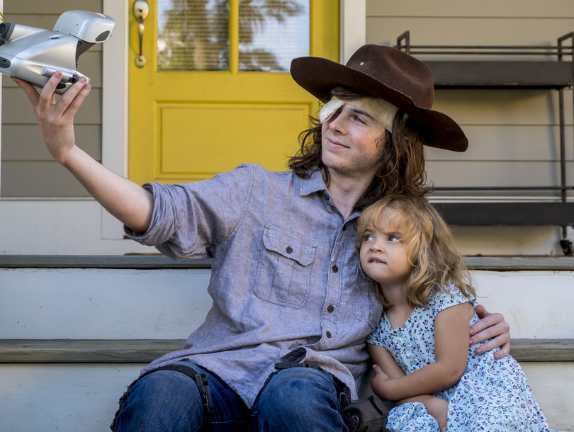 Cry Over These Photos of Carl's Goodbye on 'The Walking Dead'