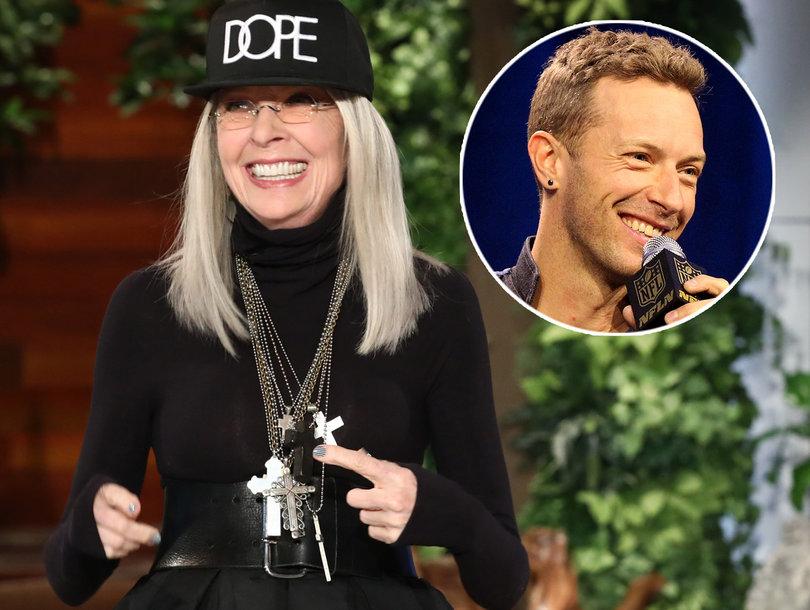 Diane Keaton Imagines Having Sex With Coldplay's Chris Martin on 'Ellen'