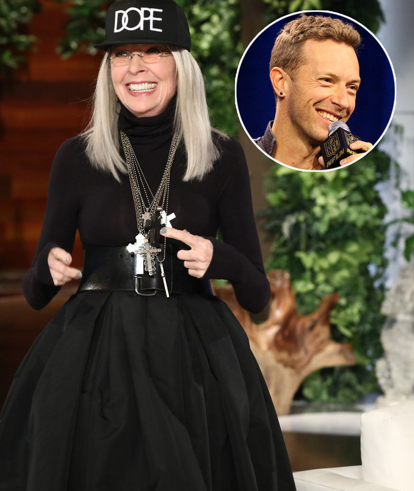 Diane Keaton Imagines Having Sex With Chris Martin on 'Ellen'