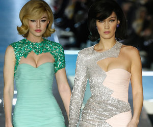 Gigi and Bella Hadid Take Us Back to the '60s at Milan Fashion Week