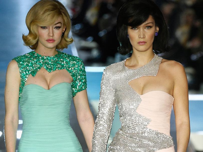 Gigi and Bella Hadid Take Us Back to the '60s at Milan Fashion Week