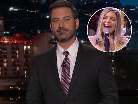 Jimmy Kimmel Takes Shot at Fergie's Risky National Anthem