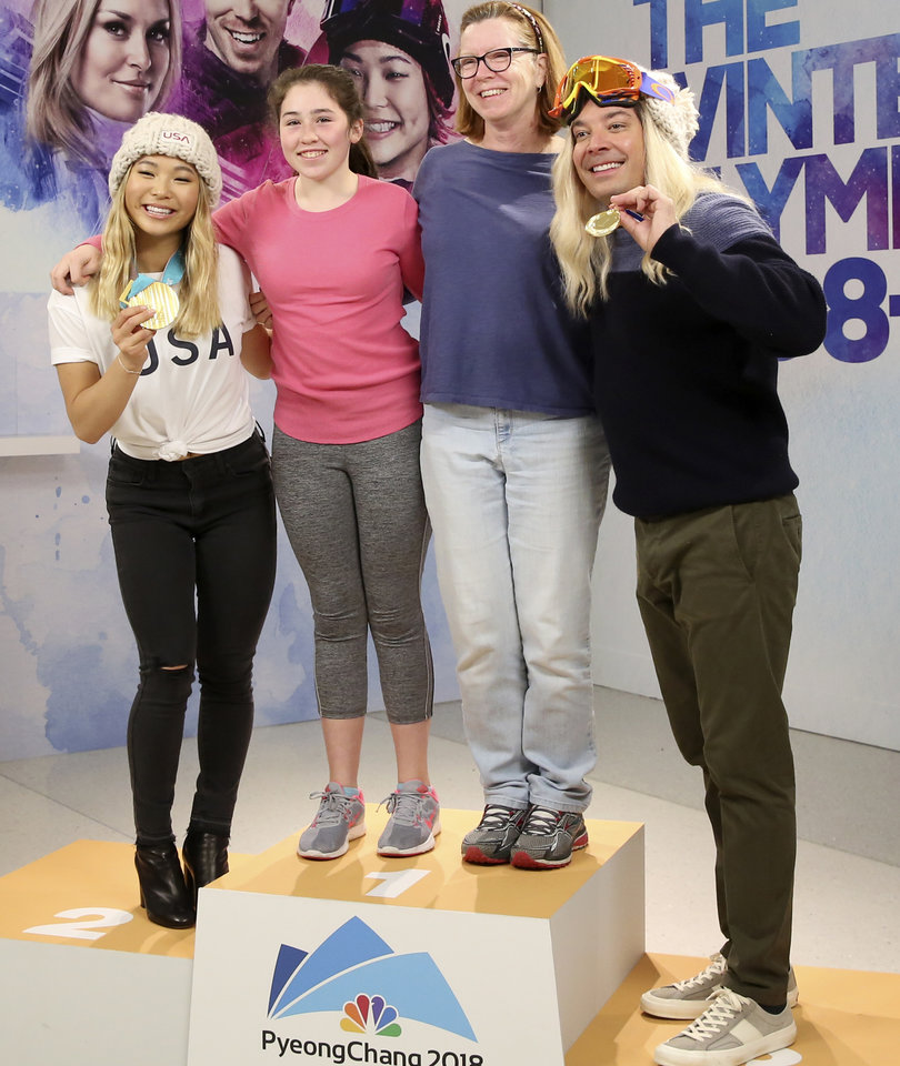 Watch Jimmy Fallon Photobomb Fans with Olympic Gold Medalist Chloe Kim