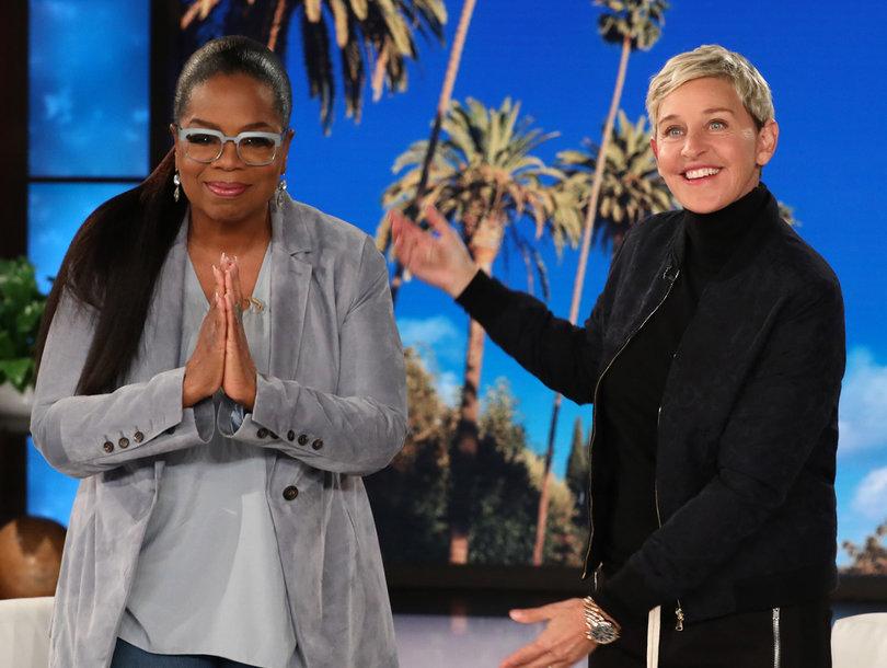 Oprah Winfrey Literally Shrugs Off Trump's Twitter Taunt After Ellen DeGeneres Defends Her