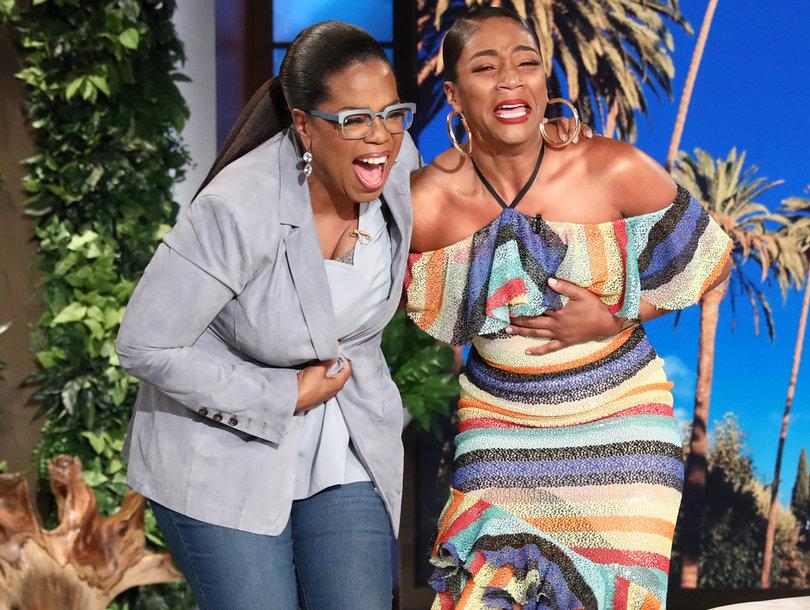 Tiffany Haddish Bursts Into Tears When Oprah Surprises Her on 'Ellen'