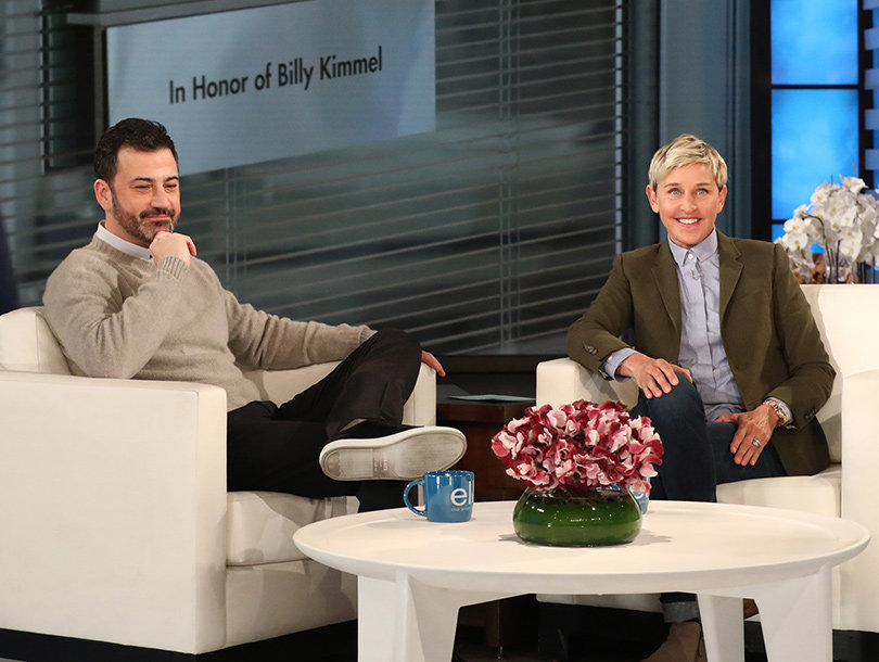 Ellen Brings Jimmy Kimmel to Tears With Surprise Tribute to His Son