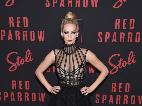 Jennifer Lawrence Slays Again at 'Red Sparrow' Premiere In NYC