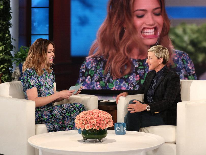 Ellen DeGeneres Tortures Mandy Moore in Game of 'Why Is Mandy Crying?'