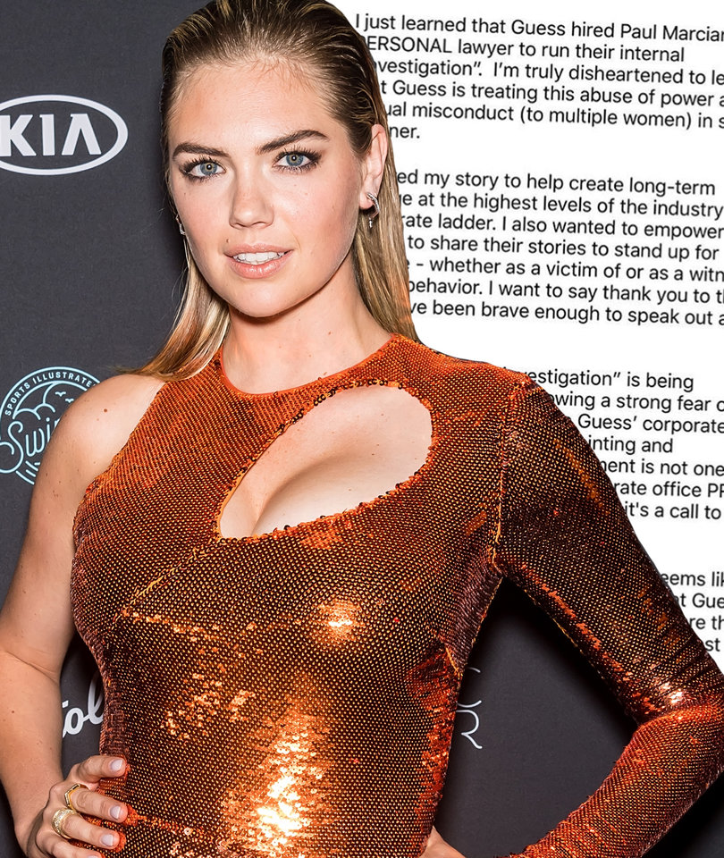 Kate Upton Refuses to Participate in Guess Investigation of Paul Marciano