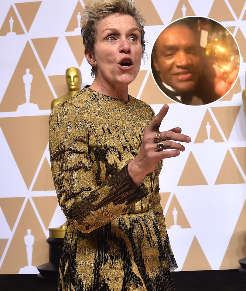 Someone Was Dumb Enough to Steal Frances McDormand's Oscar