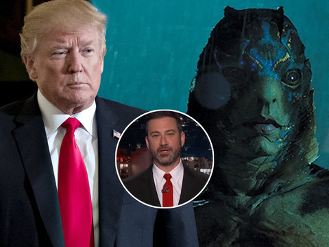 Jimmy Kimmel Compares Trump to 'Shape of Water' Monster