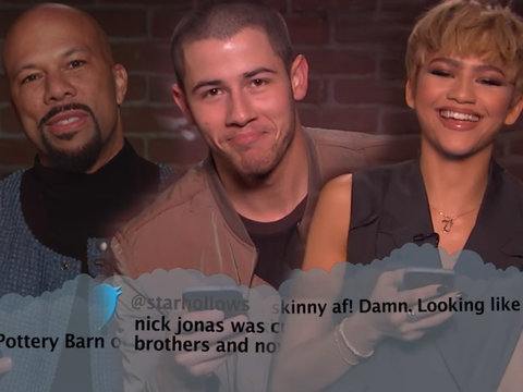 Jimmy Kimmel's 'Mean Tweets' Burn Zendaya and Nick Jonas