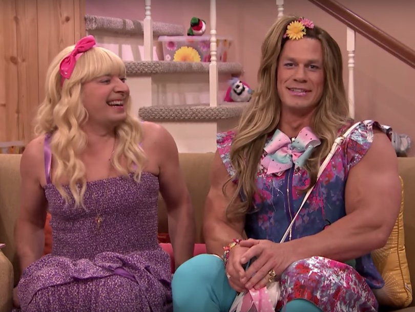 John Cena Can Barely Keep a Straight Face as Teenage Girl in Jimmy Fallon's 'Ew' Sketch