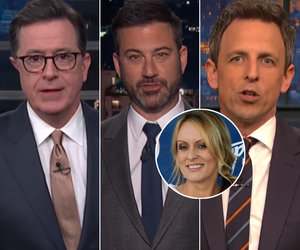 Late-Night Stars Whirl Tornado of Jokes at Trump Over Stormy Lawsuit