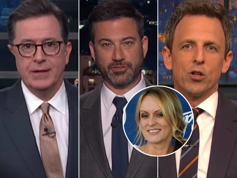 Late-Night Comedians Whirl a Tornado of Jokes at Trump Over Stormy Daniels NDA Lawsuit