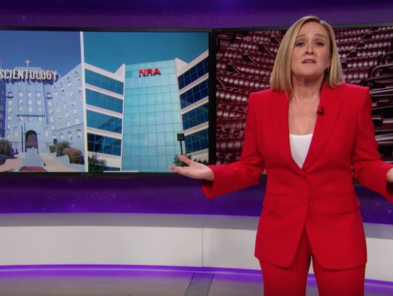 Why Samantha Bee Is Encouraging Gun Lovers to Give Up NRA Memberships for Scientology