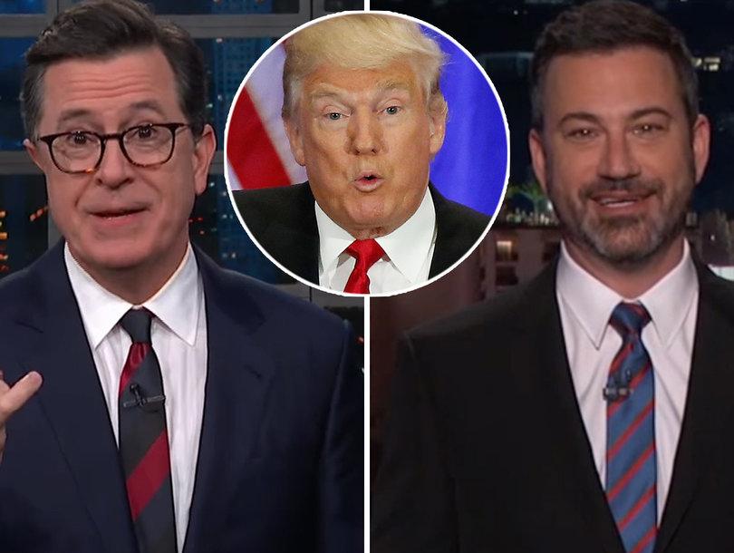 How Stephen Colbert, Jimmy Kimmel Reacted to Trump Agreeing to Meet North Korea's Kim Jong-un