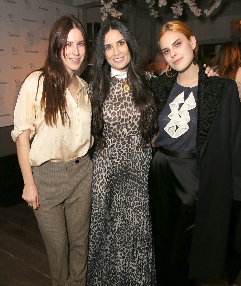 Demi Moore Honored at International Women's Day Event with Her Daughters