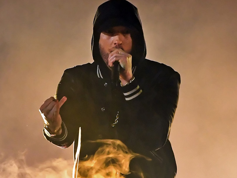 Eminem Targets NRA in iHeartRadio Music Awards Performance Introduced by School Shooting Survivor