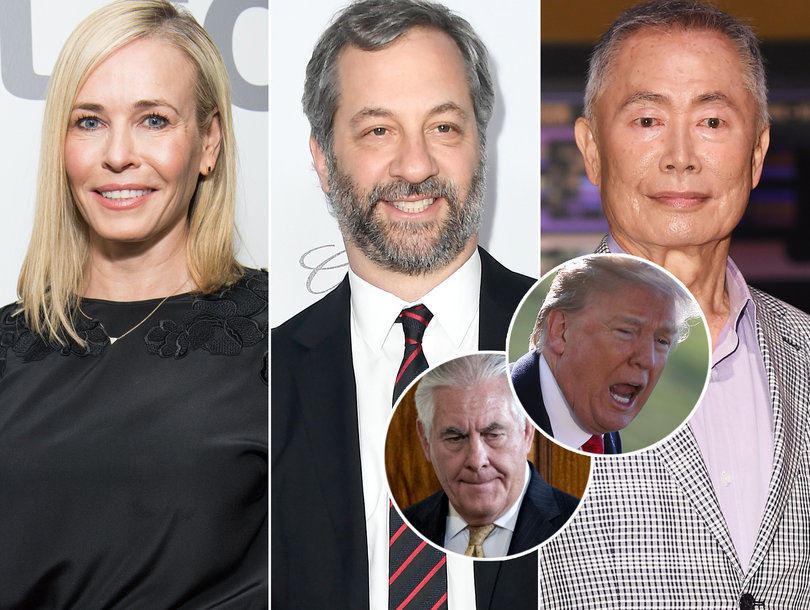 Hollywood Explodes on 'Moron' Donald Trump for Firing Secretary of State Rex Tillerson