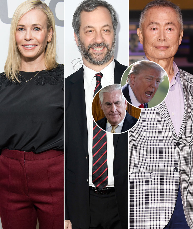 Hollywood Explodes on 'Moron' Trump for Firing Sec. of State Rex Tillerson