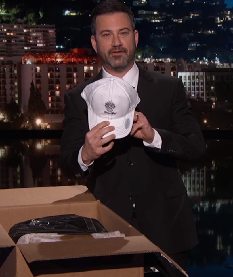 Jimmy Kimmel Discovers Some of Trump's 'Crap' Merchandise Is Illegal