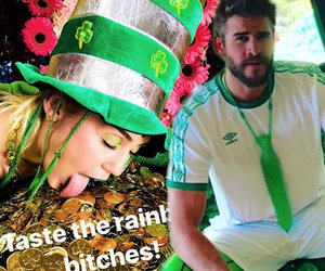 Miley Cyrus and Liam Hemsworth Went All Out for St. Patrick's Day