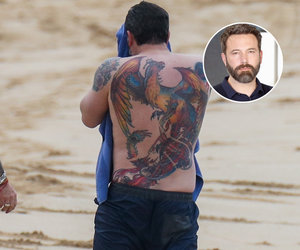 Ben Affleck's Massive, Very Real Phoenix Back Tattoo Gets Torched
