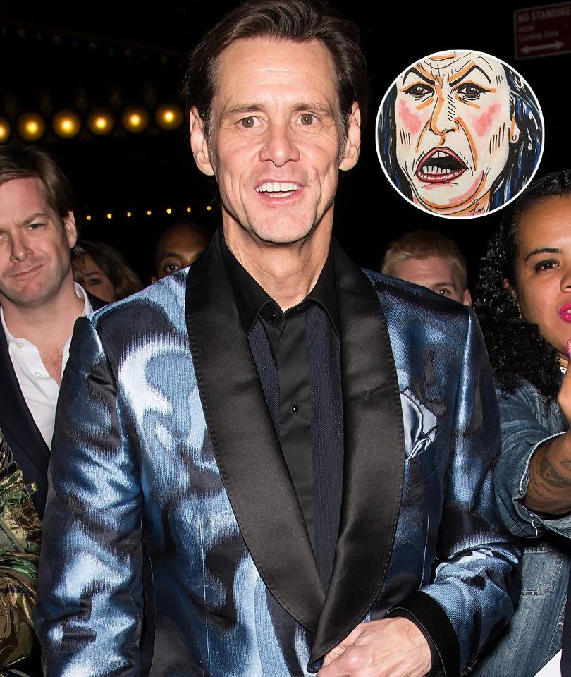 Jim Carrey's Sarah Huckabee Sanders Portrait Divides Twitter