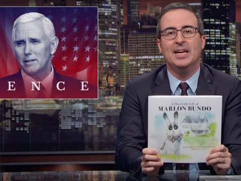 John Oliver Trolls Mike Pence With Rival Children's Book About Gay Bunny