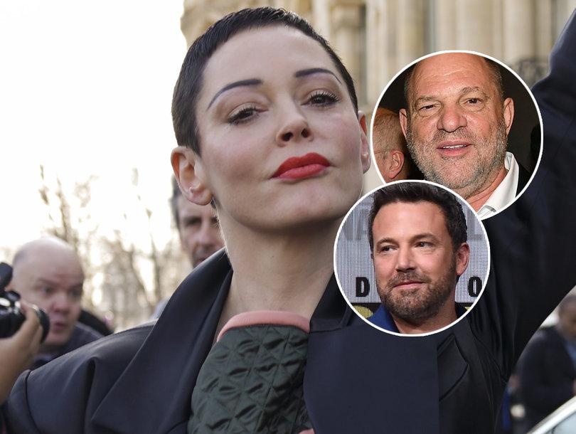 Rose McGowan Sends Weinstein Bday Message, Shades Affleck's Back Tat