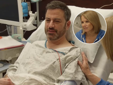 Katie Couric Takes Jimmy Kimmel to Get First Colonoscopy