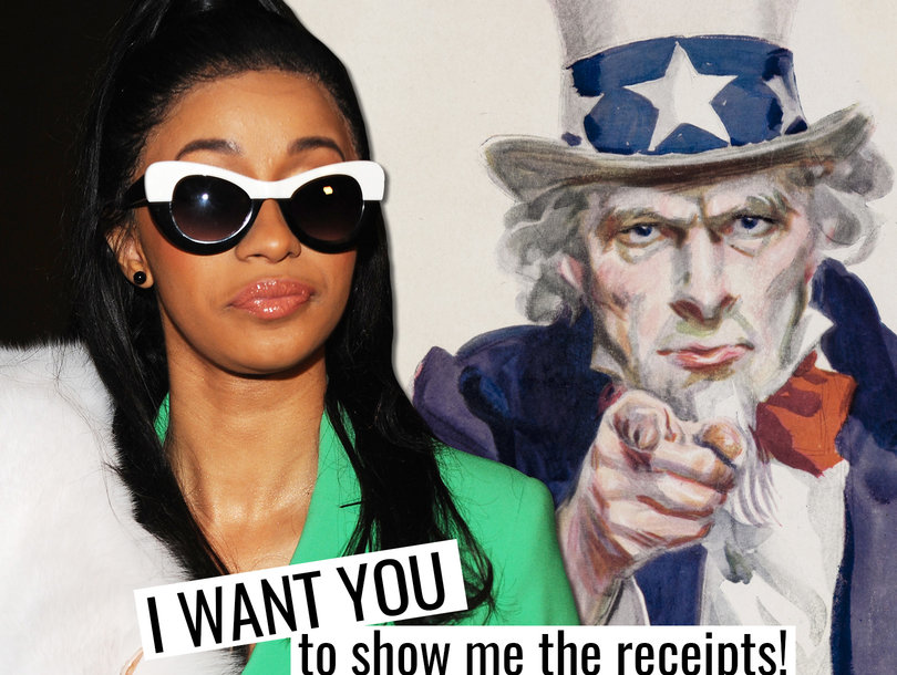 Cardi B Lashes Out at Uncle Sam Over 'Motherf-cking' Taxes: 'I Want Receipts'